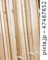 木材 板 材木の写真 47487652