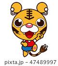 動物 トラ ジャンプのイラスト 47489997