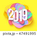 2019 紙 ペーパーのイラスト 47491995