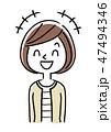 笑顔 笑う ベクターのイラスト 47494346