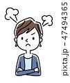 怒り 怒る 不満のイラスト 47494365