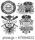 海賊 骸骨 ドクロのイラスト 47494622
