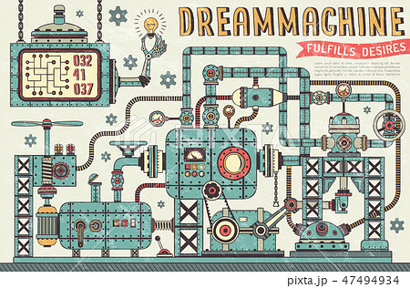 Fantastic steampunk machine 47494934