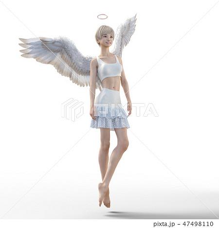 リアルな天使 perming3DCG イラスト素材 47498110