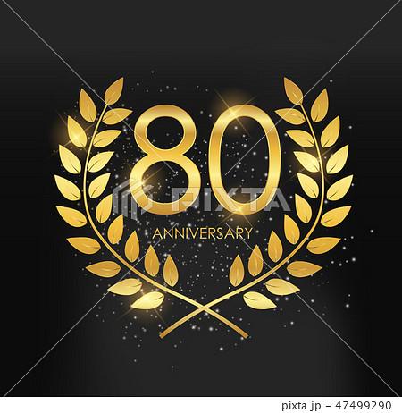 Template Logo 80 Years Anniversary Vector  47499290