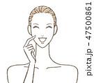 笑う女性 スキンケア 47500861