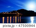 瀬戸内 瀬戸内海 夜景の写真 47500944