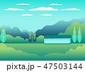 村 景色 風景のイラスト 47503144