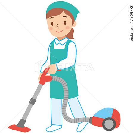 掃除機をかける女性スタッフ 47509830