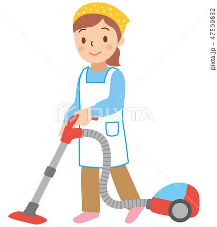 掃除機をかける女性 47509832