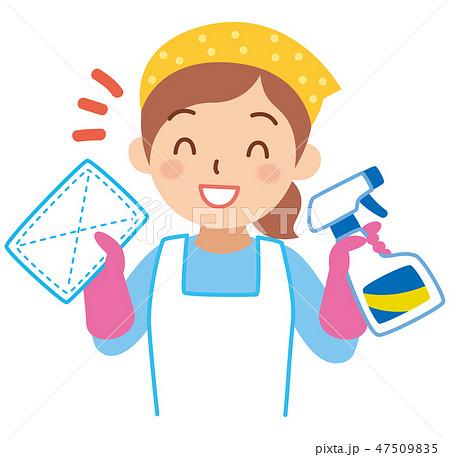 掃除をする女性 47509835