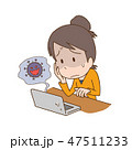 ウイルス コンピュータ パソコンのイラスト 47511233