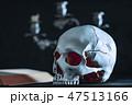 ドクロ 骨 ハロウィンの写真 47513166