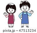 介護士 男性 女性のイラスト 47513234