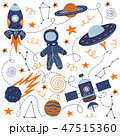Vector illustration hand drawing for a poster on the theme of space 47515360