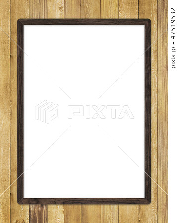 背景-壁-板-木目-茶-フレーム 47519532