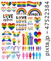 Love is love, rainbow flag, lgbt pride, vector set 47522384