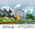 工場 製造所 汚染のイラスト 47522652