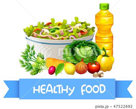 Set of fresh salad 47522692