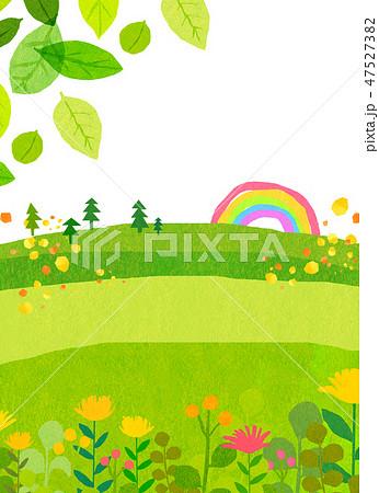 自然風景 丘 山 空 コラージュ 47527382