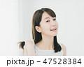 ヘアケア 女性 髪の毛の写真 47528384