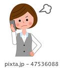怒る ビジネスウーマン 電話のイラスト 47536088