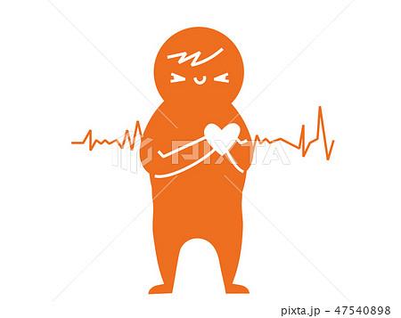 病気のサイン 体の不調ピクト風イラスト 心臓疾患 47540898
