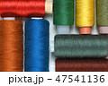 Spools of thread close-up 47541136