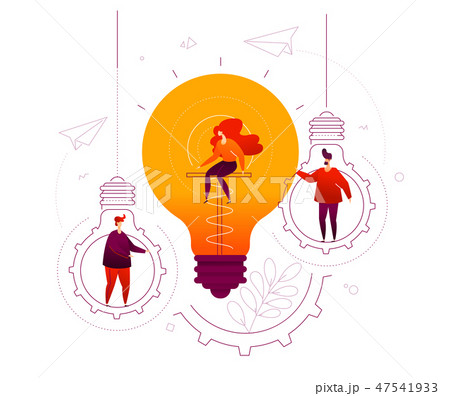 Bright idea - flat design style colorful illustration 47541933