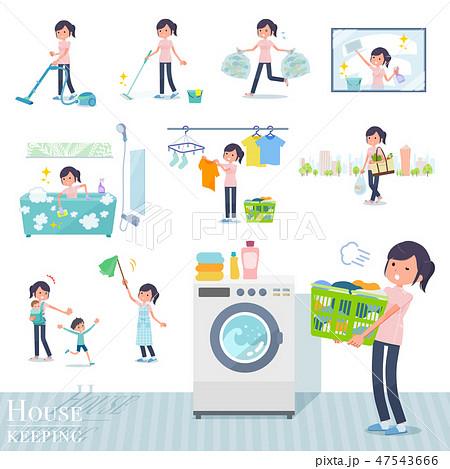 flat type chiropractor women_housekeeping 47543666