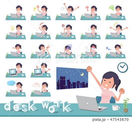 flat type chiropractor women_desk work 47543670
