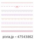 レース 線 ラインのイラスト 47543862