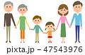 家族 三世代 三世代家族のイラスト 47543976