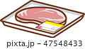 生肉 ステーキ肉 豚肉のイラスト 47548433