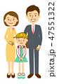 入学式 ベクター 家族のイラスト 47551322