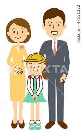 入学式家族写真女子正面 47551322