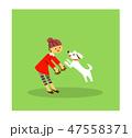 犬と遊ぶ女の子1 47558371