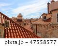 ドブロブニクの市街風景(クロアチア/ドブロブニク) 47558577