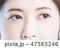 女性 人物 顔の写真 47565246