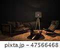 インテリア ダーク 暗いのイラスト 47566468