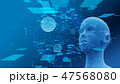 デジタル テクノロジー AIのイラスト 47568080