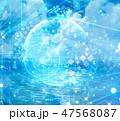 サイバー デジタル ビッグデータのイラスト 47568087