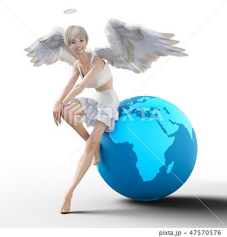 リアルな天使 perming3DCG イラスト素材 47570576