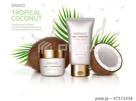 Concept poster for organic natural cream 47571038