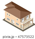 Cottage Isometric Vector 47573522