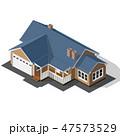Cottage Isometric Vector 47573529