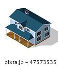 Cottage Isometric Vector 47573535