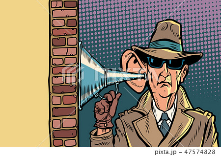 spy or secret agent of the state, wiretapping and surveillance 47574828