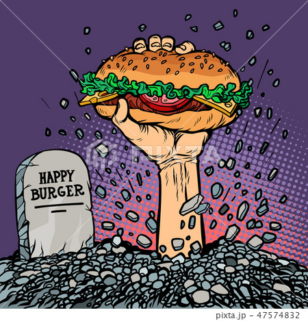 happy Burger. fast food zombie in the grave 47574832