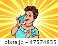 フォン 電話 女性のイラスト 47574835